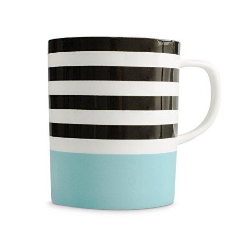 Mug en porcelaine Black Lines - Bleu