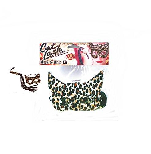 Extasialand Bondage Erotik Set - Leoparden Augenmaske und Peitsche CAT & LASH