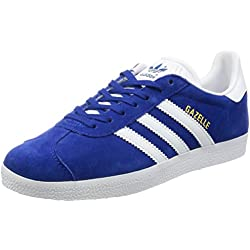 adidas Originals Gazelle, Zapatillas Unisex Adulto, Azul (Collegiate Royal/White/Gold Metallic), 42 EU