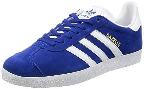 adidas Gazelle, Baskets Basses Mixte Adulte, Bleu (Collegiate Royal/White/Gold Metallic), 42 EU