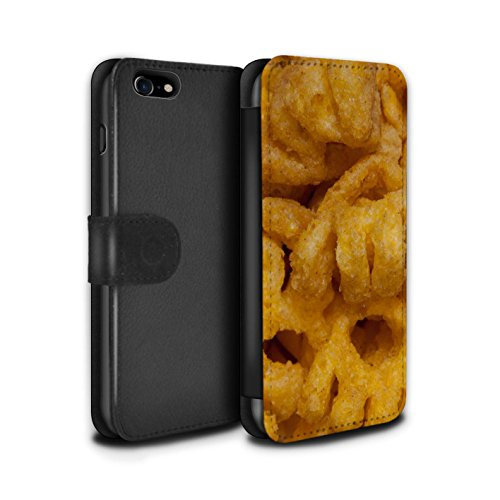 Stuff4 Coque/Etui/Housse Cuir PU Case/Cover pour Apple iPhone 7 / French Fries Design / Casse-Croûte Collection Monster Munch