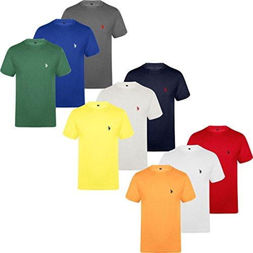 U.S.POLO ASSN. Mens Pack Of 3 US Polo ASSN Short Sleeve T-Shirt Regular Summer Top Crew Shirt