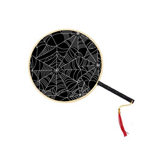 WYYWCY Halloween Spinnennetz Muster Chinesische Antike Fan Klassische Palace Paddle Fan Dance Fan Chinesische Handheld Fan Hand Fans Für Kinder Hand Fan Handwerk Frau Hand Fans