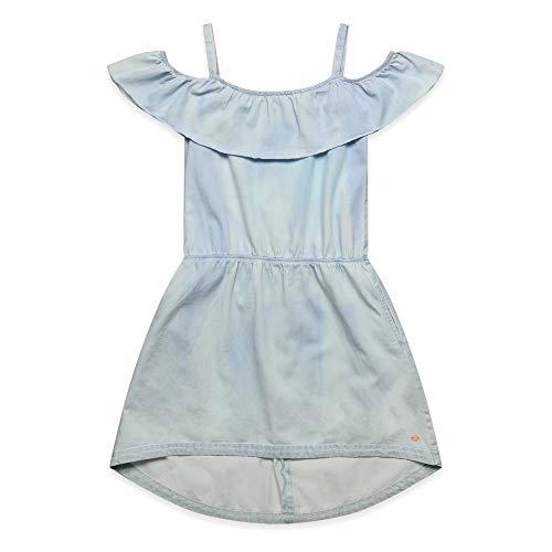 ESPRIT KIDS Mädchen Denim Dress Kleid, Blau (Blue Light Wash 415), 152 (Herstellergröße: M)
