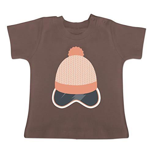 Sport Baby - Ski Snowboard Brille Mütze - 18-24 Monate - Braun - BZ02 - Baby T-Shirt Kurzarm