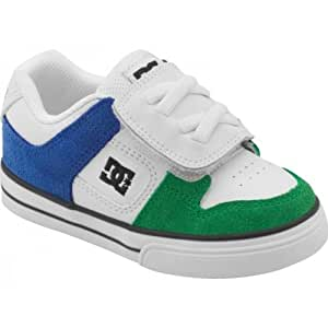 DC SHOES - Baskets - Baskets Enfant Pure V Toddlers Dc Shoes - Taille : 21.5 Couleur : White/Green