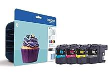Brother LC123VALBP Cartucce InkJet Originali, Alta Capacità, fino a 600 Pagine, per MFCJ470DW, MFCJ650DW, MFCJ870DW, MFCJ4410DW, MFCJ4510DW, MFCJ4610DW, MFCJ4710DW, MFCJ6520DW, Multipack, Multicolore