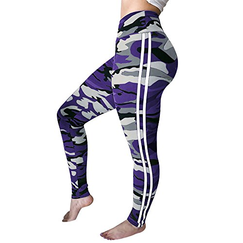 ZIYOU Frauen Camouflage Leggings Training Fitness Sport Gym Running Yoga Sporthose...