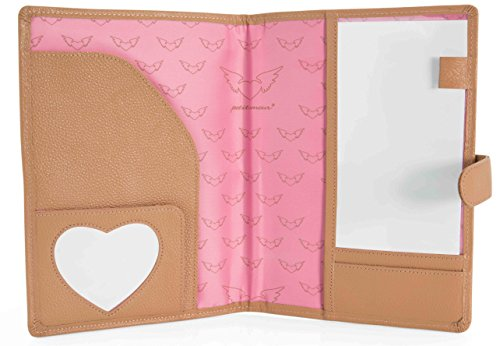 Petit Amour ♥ Mutterpasshülle Etui Case Organizer LEONA ♥ Fächer für Bilder Karten Pässe Dokumente ♥ Leder beige - 2