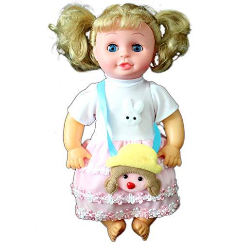 pielzeug Frisier und Schmink inklusiv Kosmetik und Zubehör 32 cm hoher Puppe Geschenk für Kinder Mädchen Prinzessin ()
