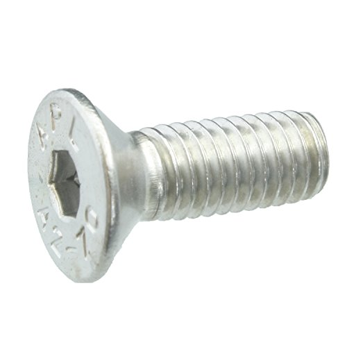 10 Senkkopfschrauben Edelstahl M5 x 14 mm – ISO 10642 / DIN 7991 – Senkschrauben mit Innensechskant und Vollgewinde – Werkstoff A2 (VA / V2A)