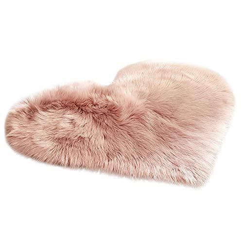 HCFKJ  Wolle Nachahmung Schaffell Teppiche Faux Fur Rutschfeste Schlafzimmer Shaggy Teppich Matten (D)