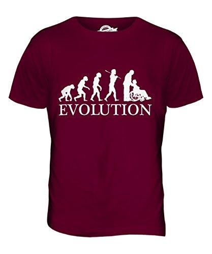 CandyMix Pflegerin Evolution Des Menschen Herren T Shirt Burgunderrot