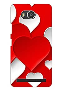 AMAN Love Pattern With Multi Seeing 3D Back Cover for Lenovo A7700