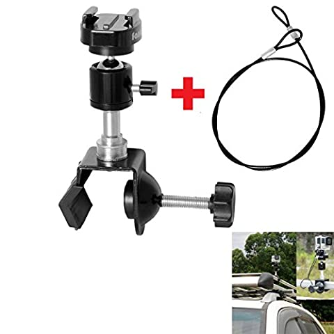 Fantaseal® Camera Car Mount SUV ATV Pickup Truck Rack Mount for GoPro Car Mount GoPro Rack Mount GoPro Roll Bar Mount GoPro Pole Mount GoPro Clamp Mount for GoPro Hero4/3+/3/ Session/ SJCAM SJ4000 Sony X1000VR Garmin Virb XE Xiaomi Yi +etc Action Cam / Trail Camera - Bar Atv