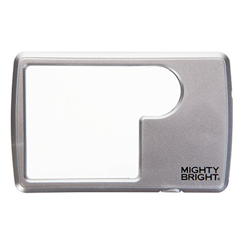 Mighty Bright Led Lighted Wallet Magnifier, Silver -