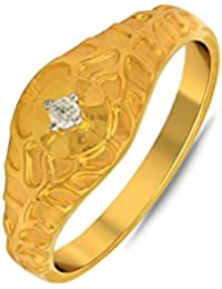 P.N.Gadgil Jewellers Lavanya Collection 22k (916) Yellow Gold Ring - B01M7PBNRY