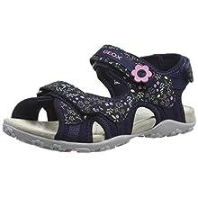 Geox Girls' JR Sandal Roxanne C Open Toe, Blue (Dk Navy C4021), 13 UK