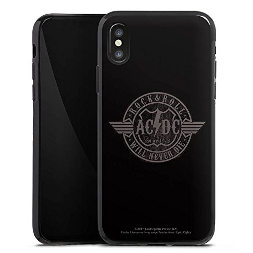 Apple iPhone 8 Silikon Hülle Case Schutzhülle ACDC Rock will never die Merchandise Silikon Case schwarz