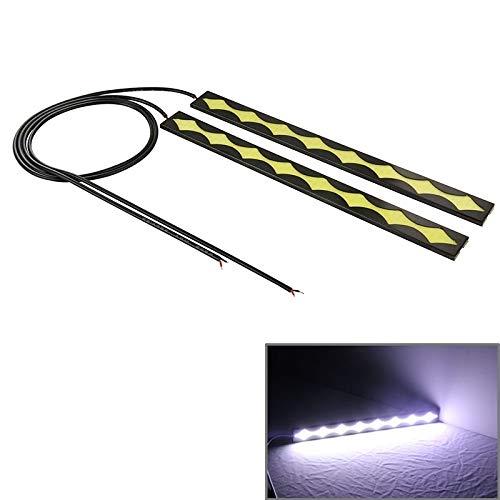 Ampoule automobile 2 pc dc 12v cob drl conduit une lumière blanche voiture feux de circulation diurne, longueur: 20.5cm