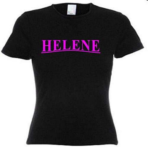 T-Shirt Damen Motiv-130 Größe XS Farbe Schwarz/Pink