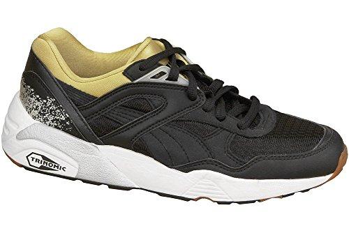 Puma R698 Trinomic 357331-05, Baskets Femme, Mehrfarbig (Black,Gold 001), 37.5 EU