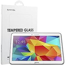 Ganvol Vidrio Templado Film Protector de Pantalla Membrana para Samsung Galaxy Tab 4 10.1 Inch SM-T530 T531 T535 [Alta Transparencia Ultra HD] [Dureza de 9H] [Resistente a los Arañazos] [Colocación 100% Sin Burbujas] [Superficie Anti Huellas] [Anti Amarilleo] [Larga Duración] [0.33 mm]