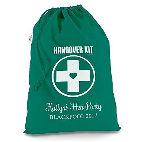personalisierbar Hangover Kit Large Grün Luxus Weihnachten Santa