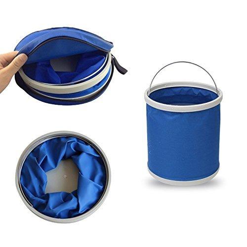 odowalker plegable cubo 9L 2,4gallon portátil plegable bolsa de agua para Camping senderismo viajes y coche limpieza–con bolsa de transporte