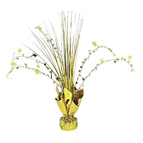 Amscan 12-inch Foil Spray Centrepiece Party Accessory, Gold