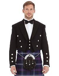 Écosse Prince Charlie Noir Veste et Gilet