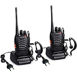 Walkie Talkie Recargables 16 Canales Proster Walkies Profecionales CTCSS DCS BF-888S Transmisores Receptores Radiocomunicación Gran Alcance con Cargador de Enchufe Auriculares