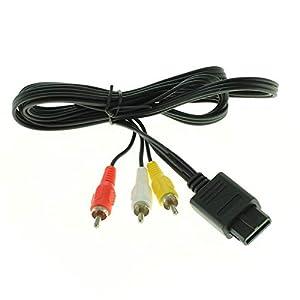 Videokabel Audiokabel für Nintendo SNES/Super Nintendo/Super Famicom / N64 / Gamecube AV-Kabel mit Cinch Anschlüssen von Weiss – More Power +