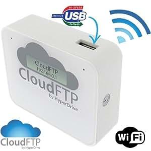 SANHO HyperDrive CloudFTP WHITE / WEISS WiFi USB-Host Cloud-Adapter. Macht ALLE USB-Daten WLAN-fähig. Streamt USB-Daten direkt an WiFi-Geräte wie iPad, iPhone, Tablet, Smartphone etc. Cloud FTP