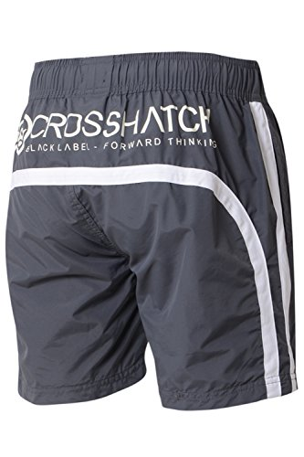 Crosshatch Herren Badeshort Dark Shadow - Grey