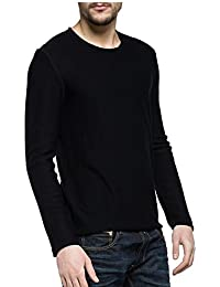 REPLAY Crew Neck Pull Maille Fine Noire