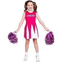 Disfraz animadora niñas Talla S rosa EG-3605