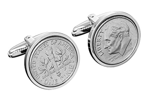 US CUFFLINKS 10 CENT DIME