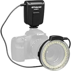 polaroid led makro ringblitz licht f r kamera. Black Bedroom Furniture Sets. Home Design Ideas