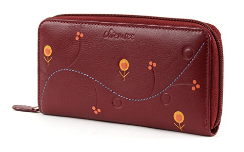 CHIEMSEE Spongy Zip Around Wallet Wine Red Wine Red (Rosso)