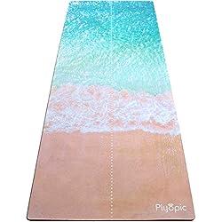 Plyopic Esterilla de Yoga   Antideslizante Colchoneta/Toalla de Lujo. Natural y Ecológica   Ideal para Yoga, Pilates, Ejercicio, Fitness, Hot o Bikram