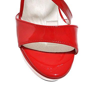LvYuan Damen-Sandalen-Outddor Büro Lässig-PU-Stöckelabsatz-Andere-Schwarz Rot Weiß Silber Gold White