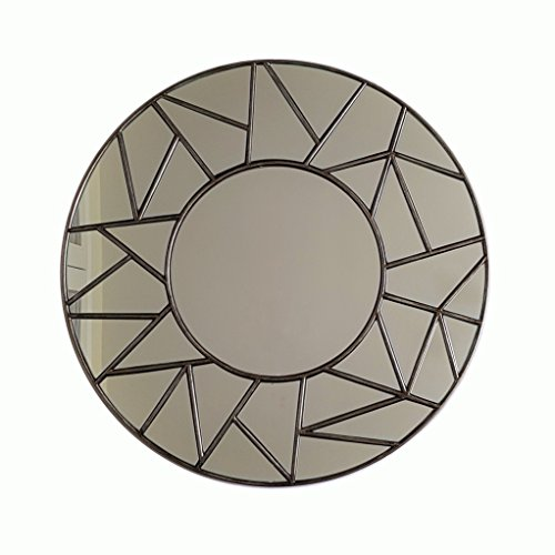 Slate & Rose 7435916 Verre Miroir, Silver Champagne, Diameter 80cm x Depth 3cm