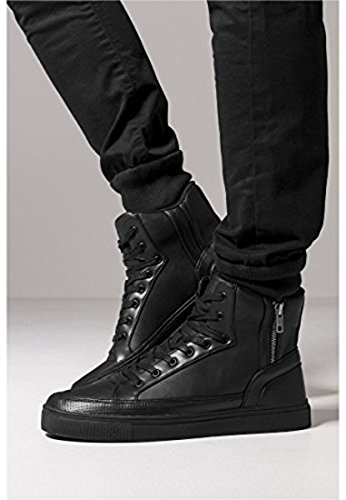 Zipper High Top Shoe black 45