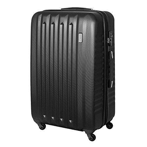 XXL Karry Hartschalen Koffer Reisekoffer Trolley TSA Zahlenschloss Reise 100 Liter Schwarz 811 B