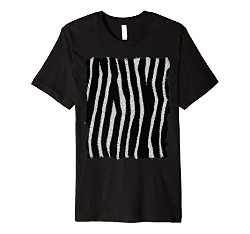 Zebra Hide T Shirt – Animal Print, Lazy Kostüm, Fun ()