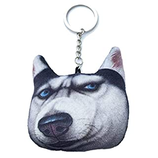 Kreative Car Bag Expression Netter Hund Plüsch-Schlüsselanhänger 3D-Stereo-Simulation Tier-Anhänger Schlüsselanhänger Cartoon Schlüsselring-Geschenk