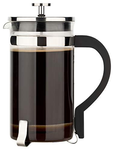 1l mit Filter aus Edelstahl   Hochwertige Coffee French Press mit Kaffeekanne aus Glas für 4 Tassen ()