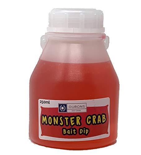 OURONS Monstercrab Bait Dip Glug - Karpfenangeln Köder Flüssigkeit 250 ml -