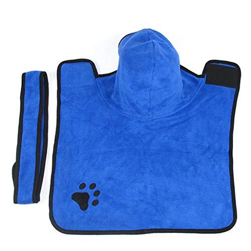 Mascota de Secado rápido Albornoz Perro Baño Toalla Gato Absorbente Toalla de...